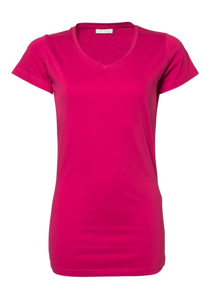 Dlouhé tričko - Sytě růžová XXL