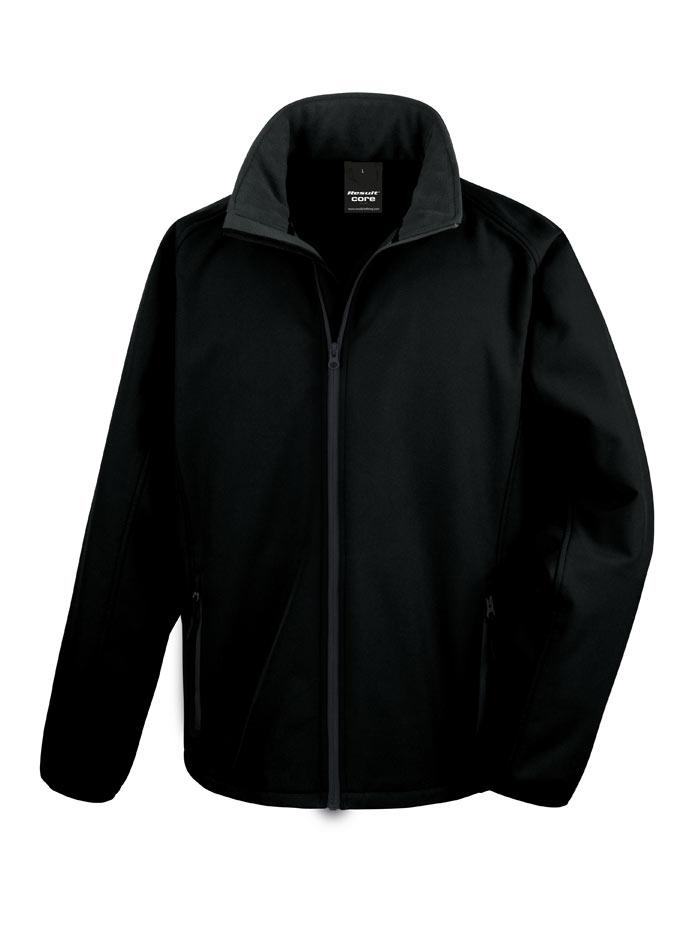 Pánská softshellová bunda - Černá S
