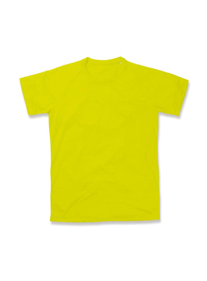 Pánské sportovní tričko Active raglan - Žlutá S