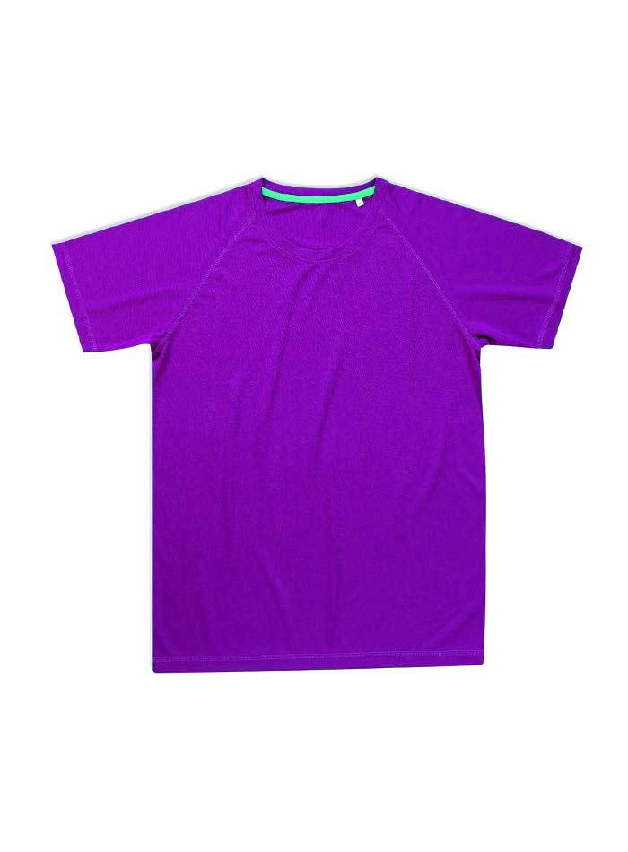 Pánské sportovní tričko Active raglan - Fialová S