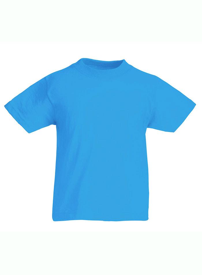 Lehké bavlněné tričko - Azurově modrá 152 (12-13)