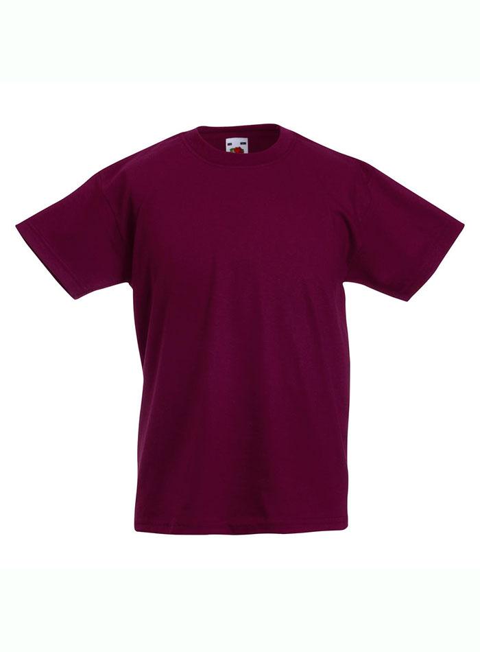 Lehké bavlněné tričko - Vínově červená 152 (12-13)