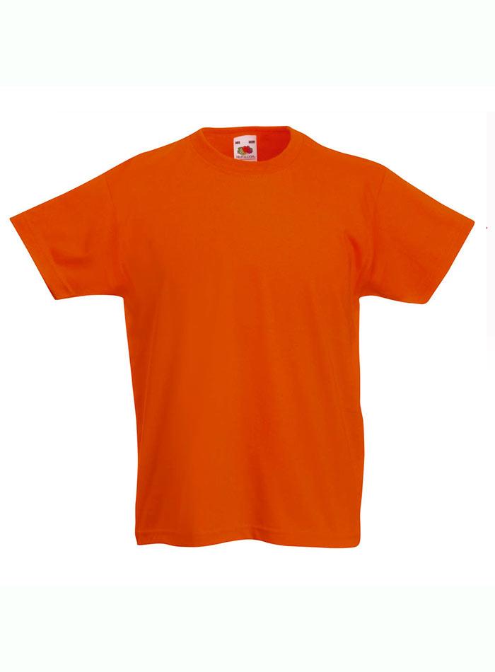 Lehké bavlněné tričko - Oranžová 152 (12-13)