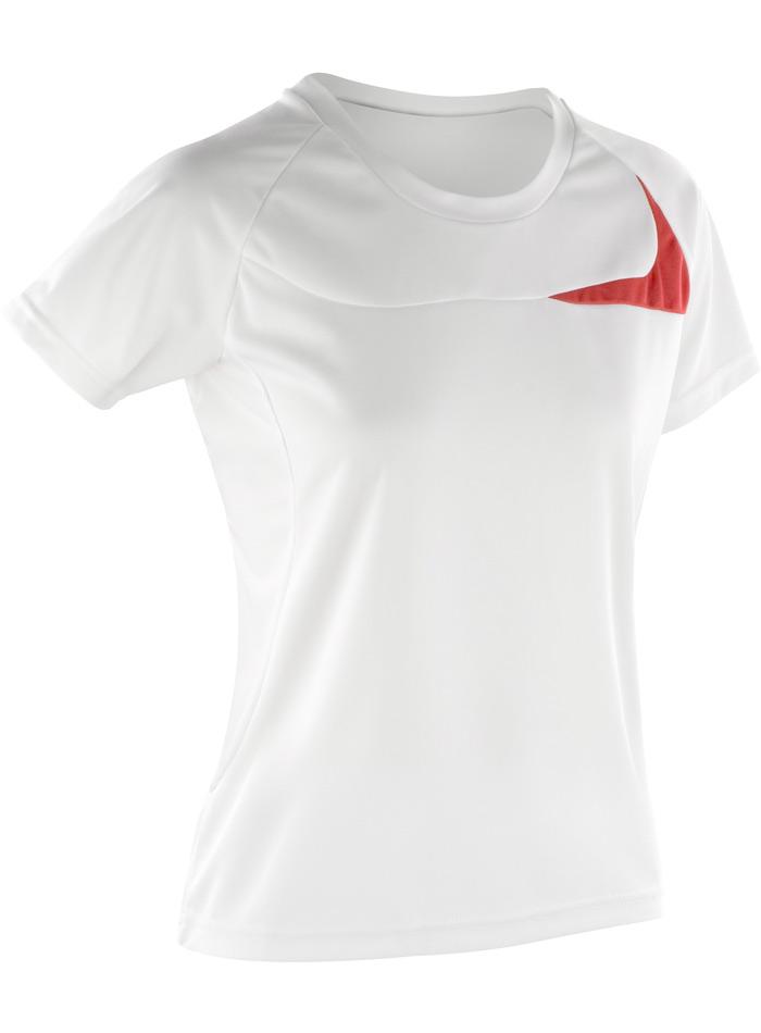 Dámské sportovní tričko Dash - Bílo červená XS