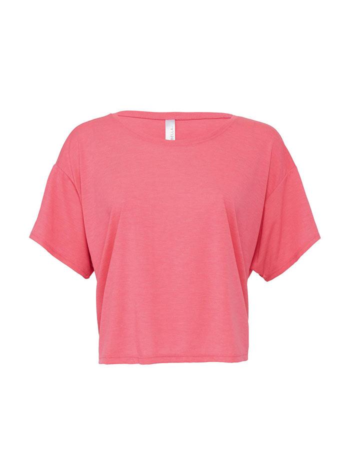 Dámské tričko Boxy - Neonově růžová S