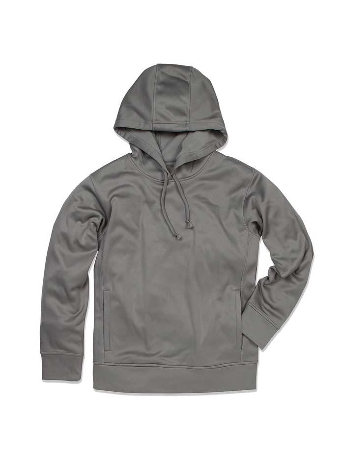 Pánská fleece mikina Bonded - Šedá S