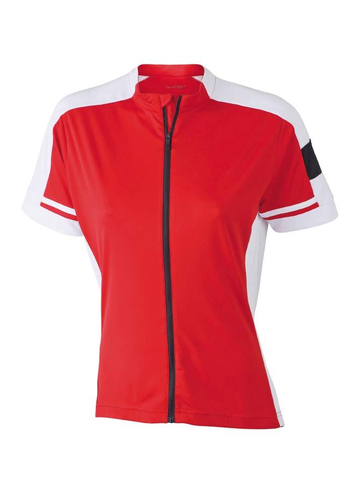 Dámské cyklistické tričko na zip - Červená M
