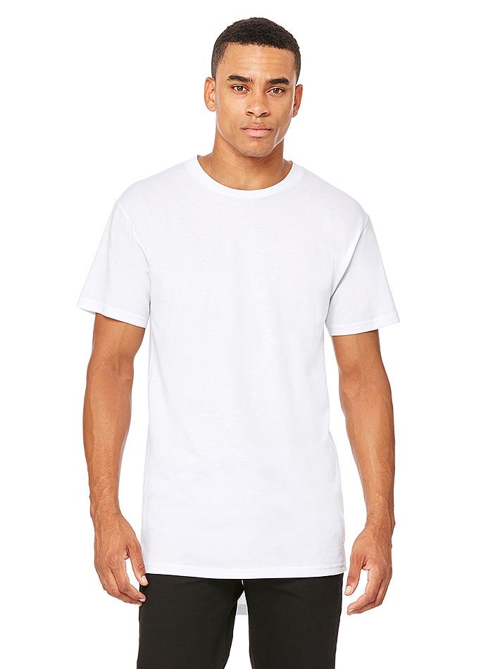 Pánské dlouhé tričko Urban - Bílá XXL