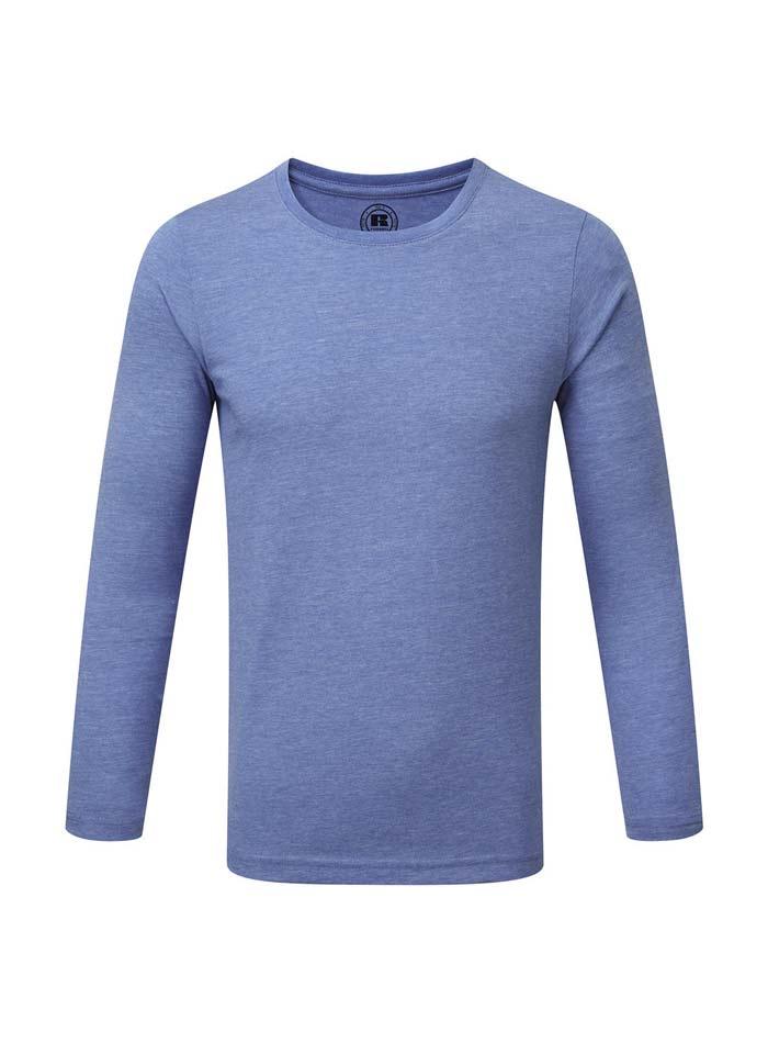 Chlapecké triko s dlouhými rukávy - Modrá 140 (9-10)