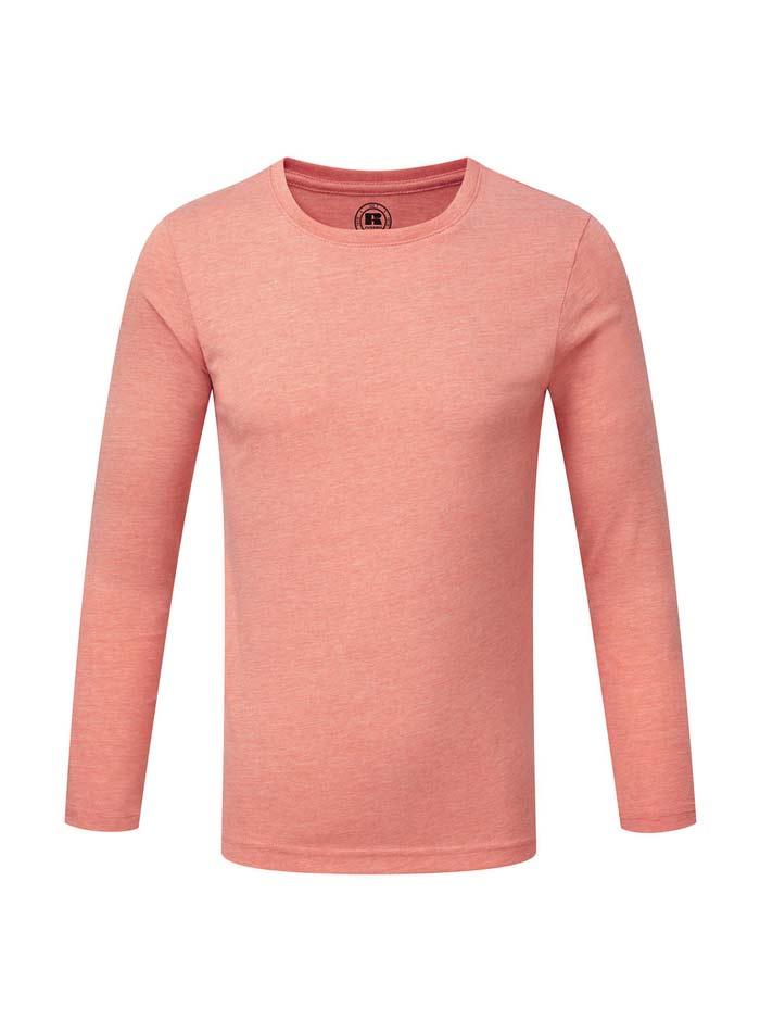 Chlapecké triko s dlouhými rukávy - Korálová 140 (9-10)