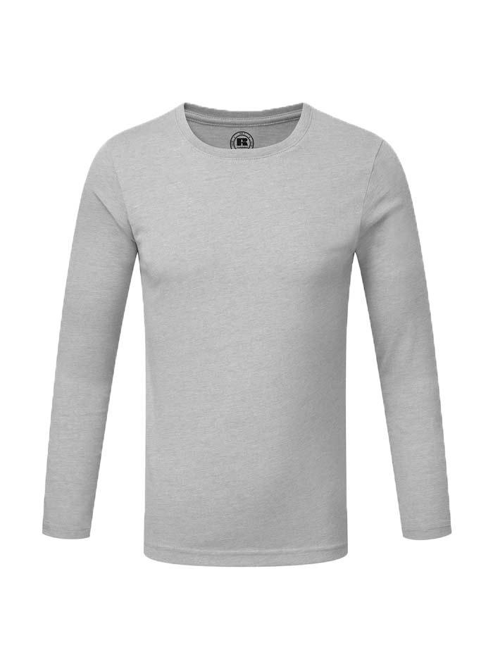 Chlapecké triko s dlouhými rukávy - Stříbrná 140 (9-10)