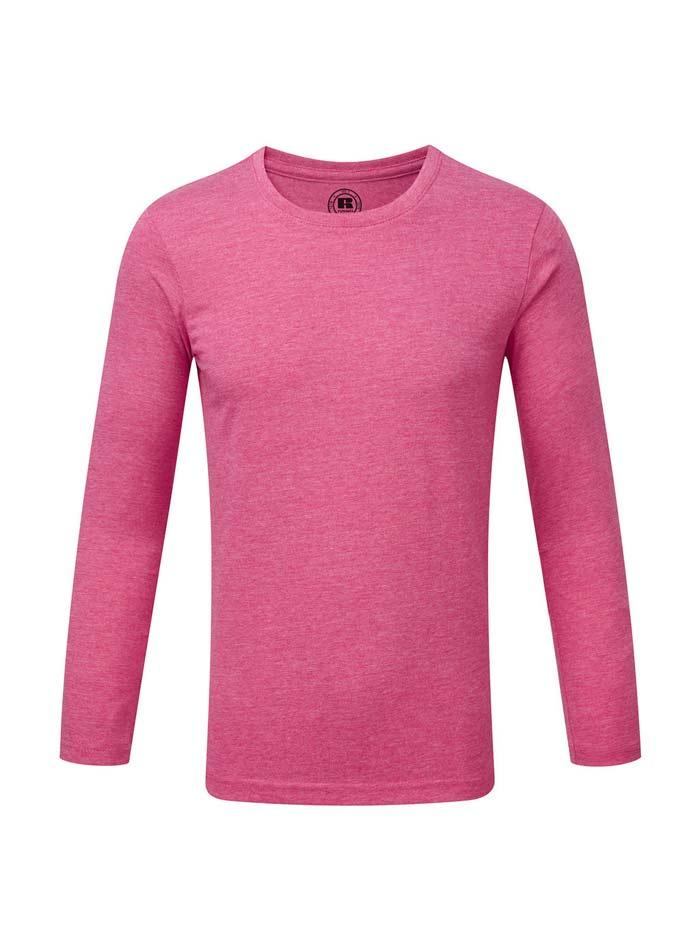 Chlapecké triko s dlouhými rukávy - Zářivě růžová 140 (9-10)