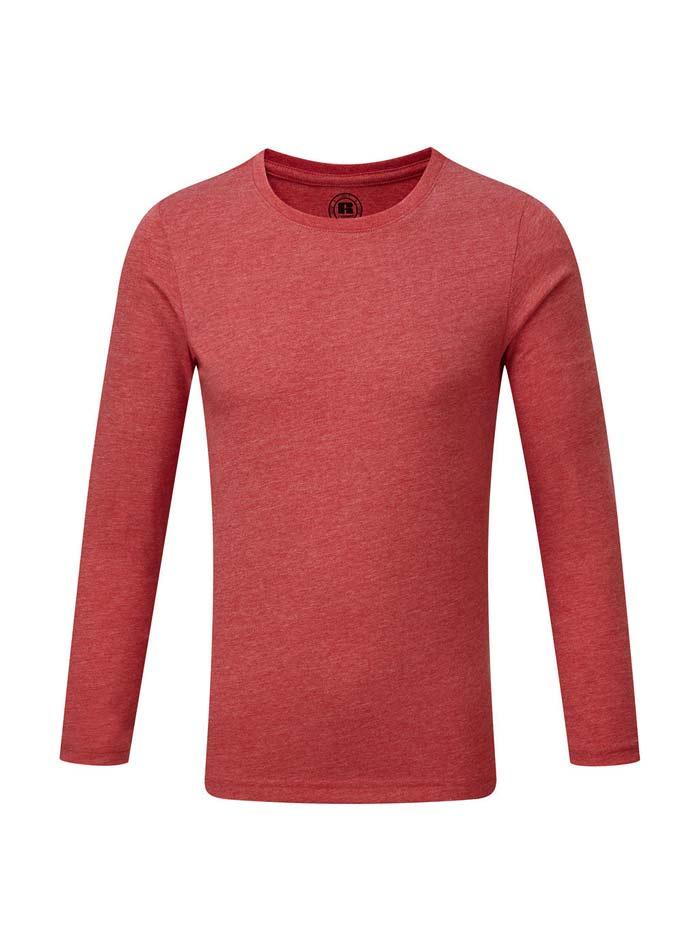 Chlapecké triko s dlouhými rukávy - Červená 140 (9-10)
