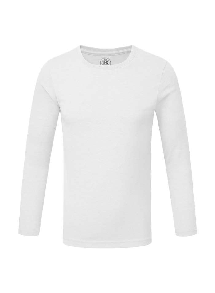 Chlapecké triko s dlouhými rukávy - Bílá 140 (9-10)