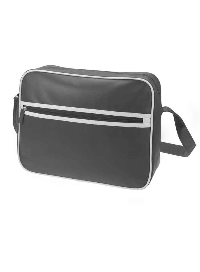 Retro taška na zip - Šedá univerzal