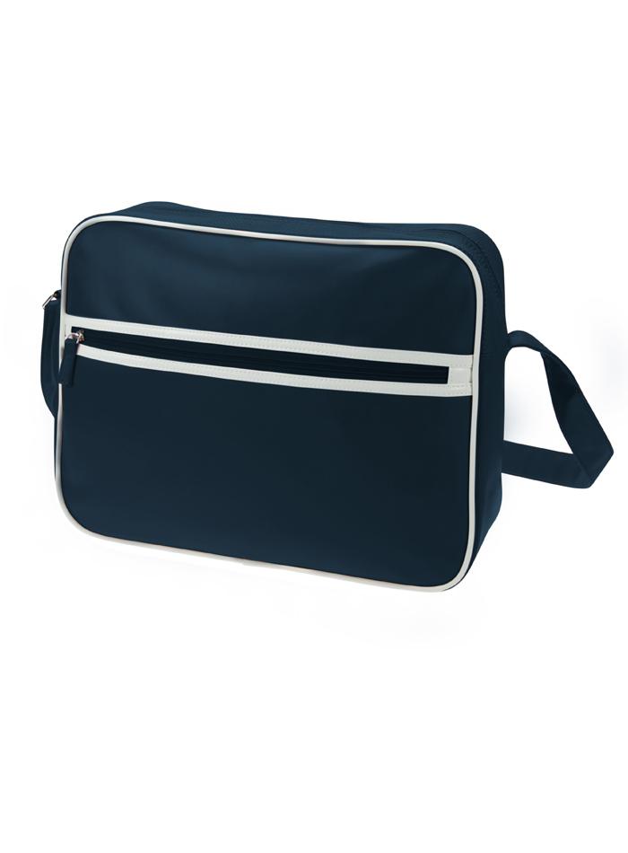 Retro taška na zip - Námořní modrá univerzal
