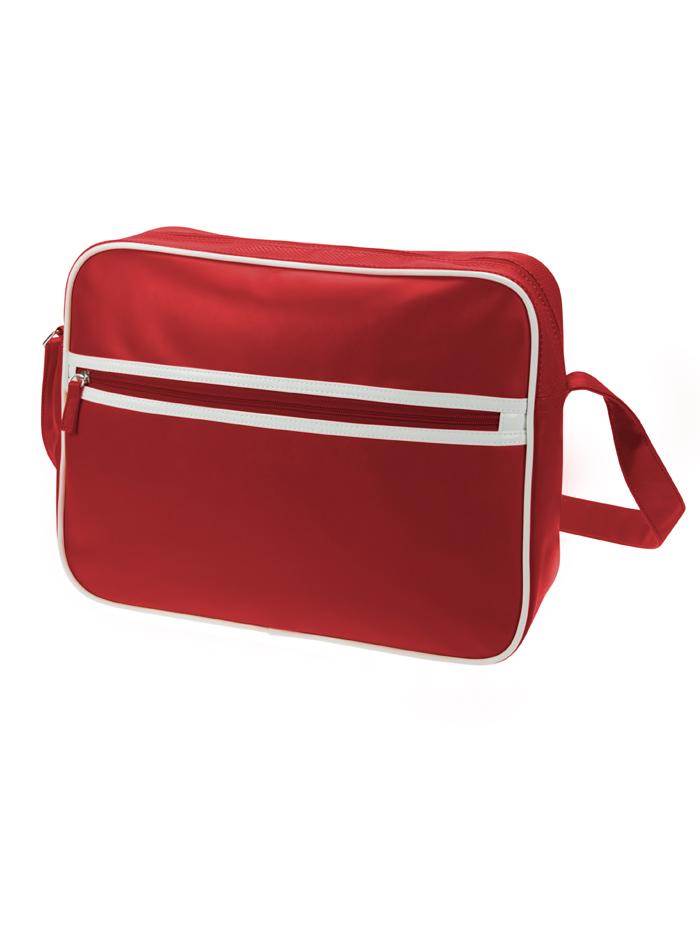 Retro taška na zip - Červená univerzal