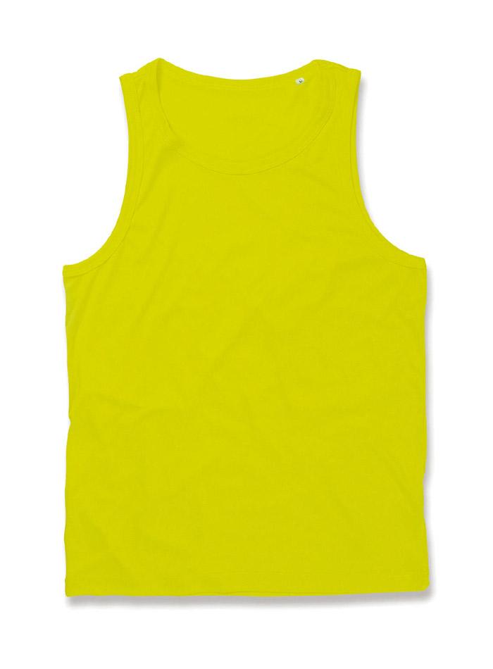 Pánský top Active Sports - Citrónově žlutá L