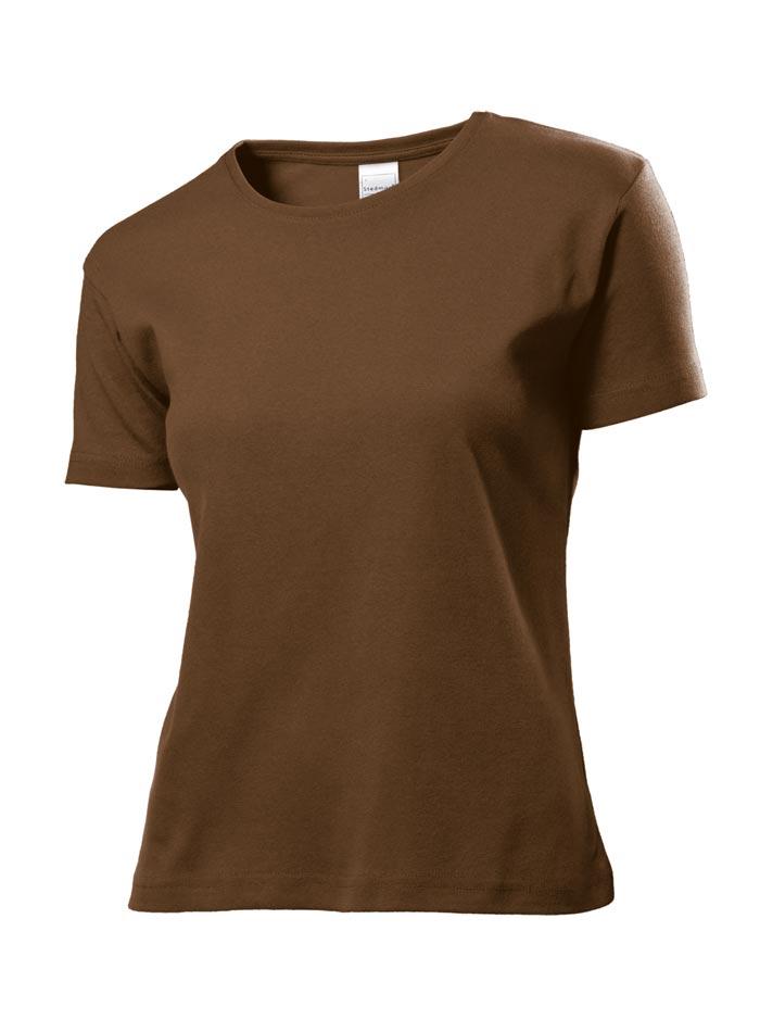 Dámské tričko Comfort - Hnědá S