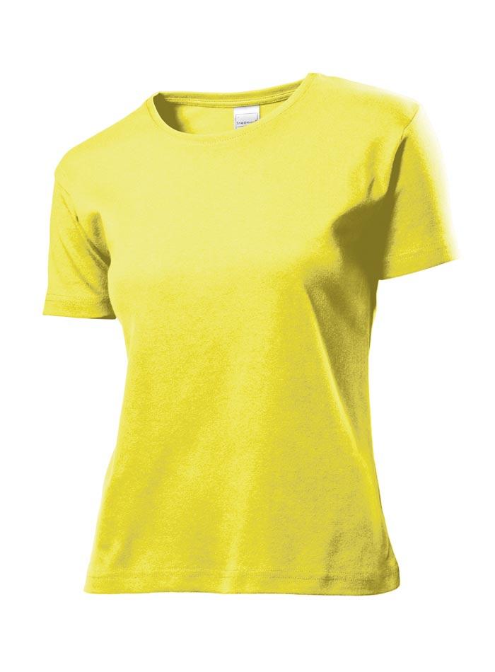 Dámské tričko Comfort - Žlutá S