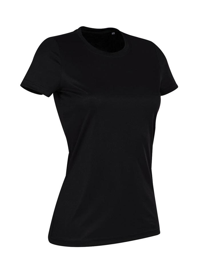 Dámské tričko Active Sports - Opálově černá L