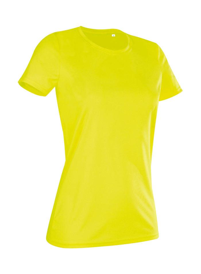 Dámské tričko Active Sports - Citrónově žlutá L