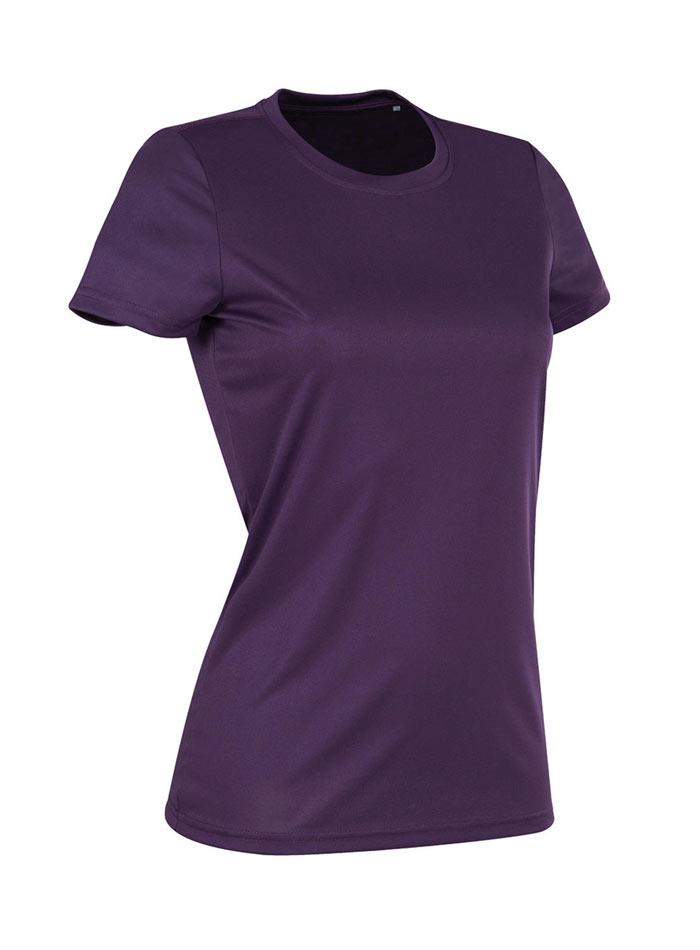 Dámské tričko Active Sports - Tmavě fialová L