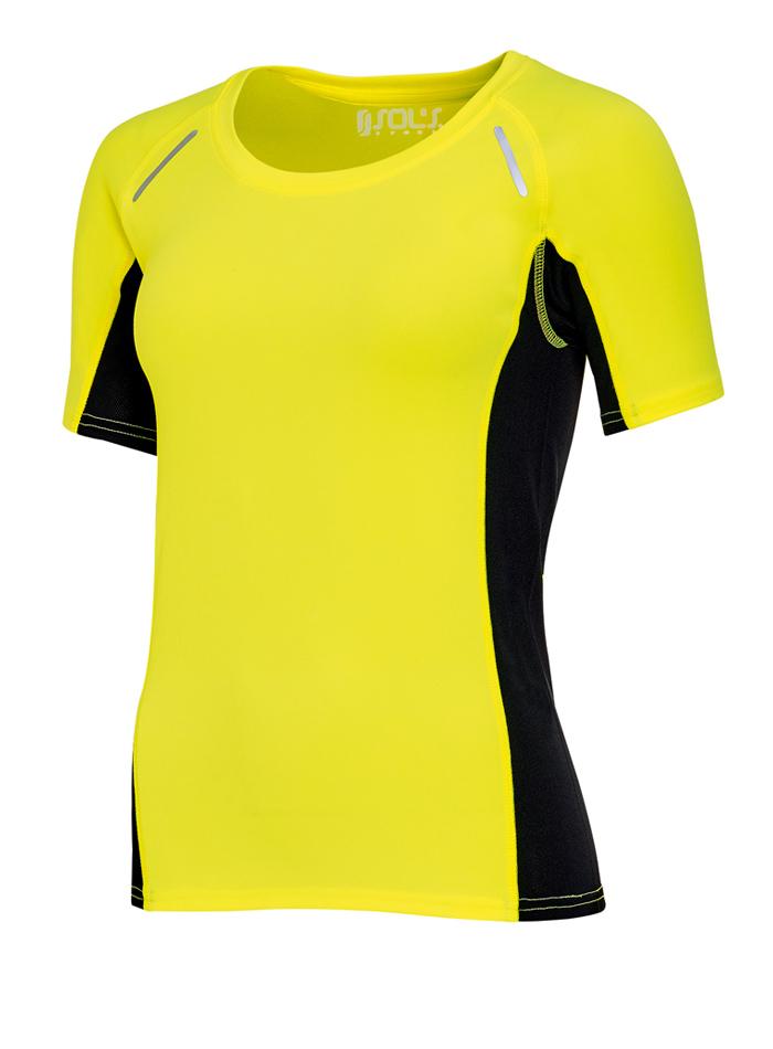Dámské sportovní tričko Sydney - Neonově žlutá XS