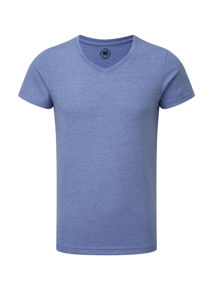 Chlapecké tričko HD V-výstřih - Kobaltově modrá 140 (9-10)