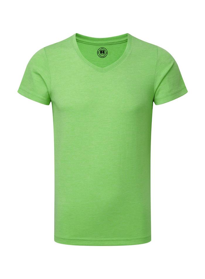 Chlapecké tričko HD V-výstřih - Zelená 140 (9-10)