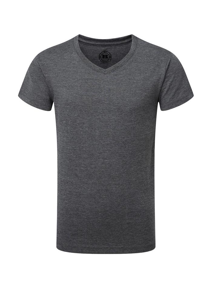 Chlapecké tričko HD V-výstřih - Šedá 140 (9-10)