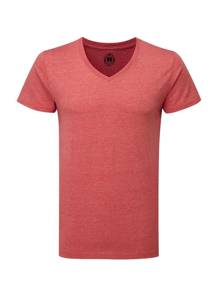 Chlapecké tričko HD V-výstřih - Červená 140 (9-10)