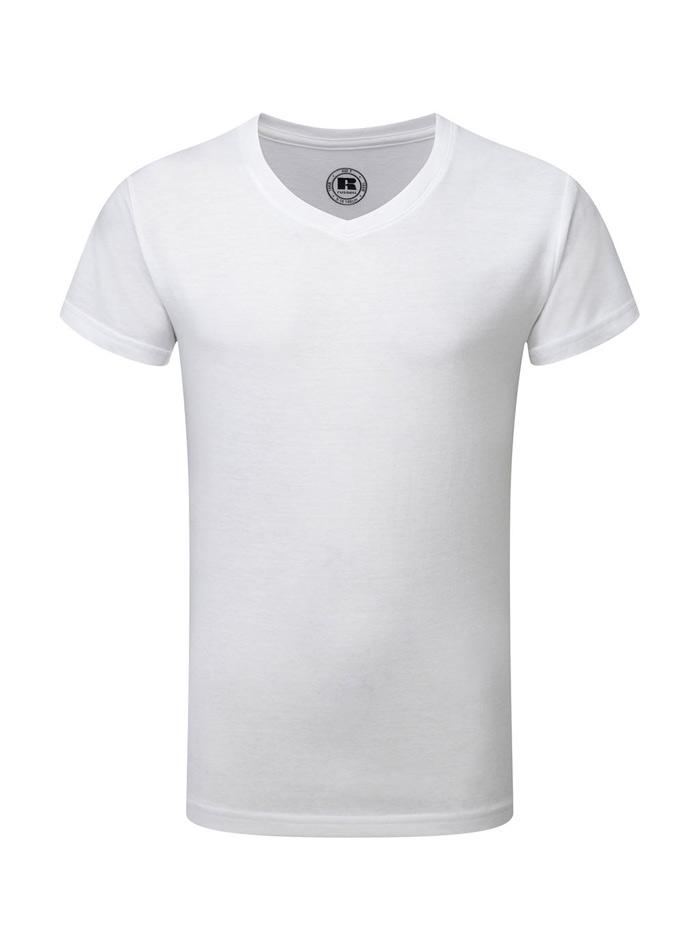 Chlapecké tričko HD V-výstřih - Bílá 140 (9-10)
