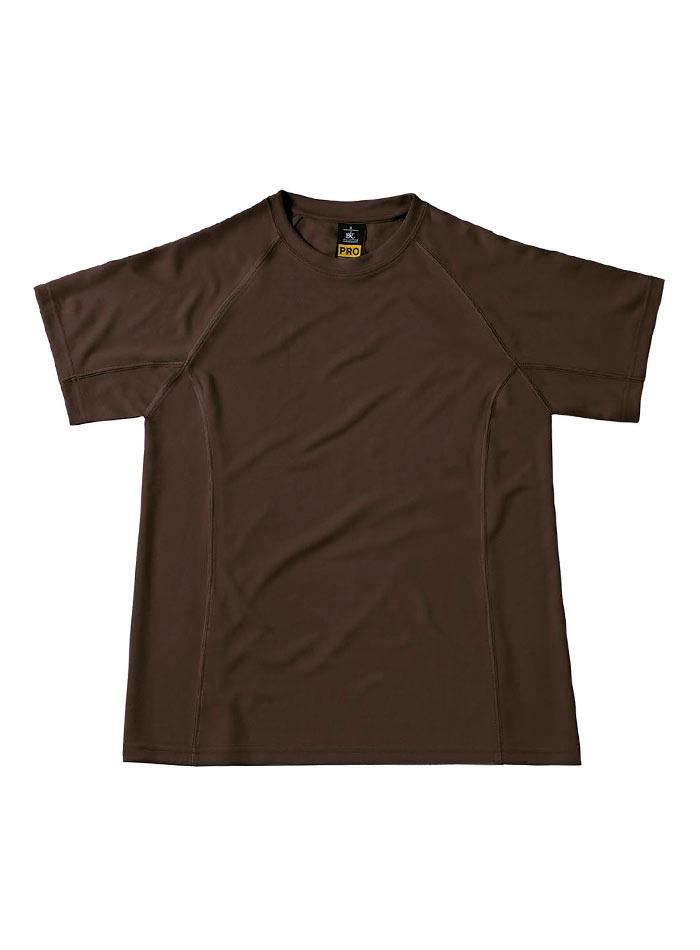 Funkční pracovní tričko - Hnědá S