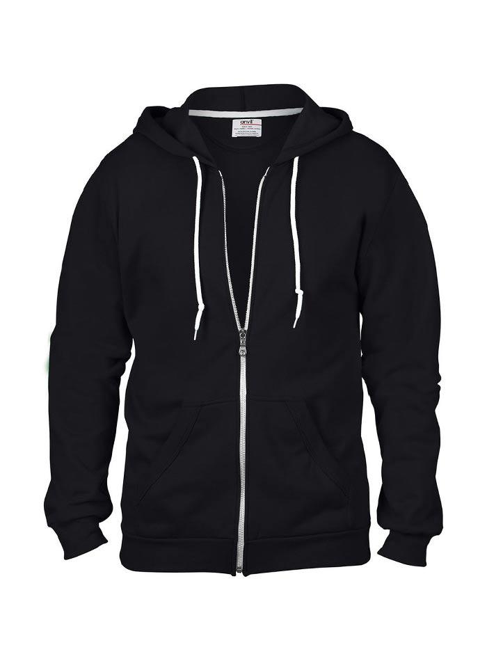 Pánská mikina Fashion s kapucí - Černá XXL