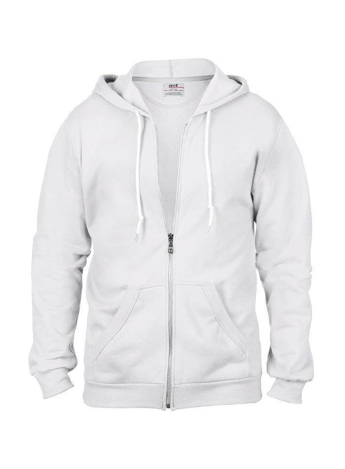 Pánská mikina Fashion s kapucí - Bílá S