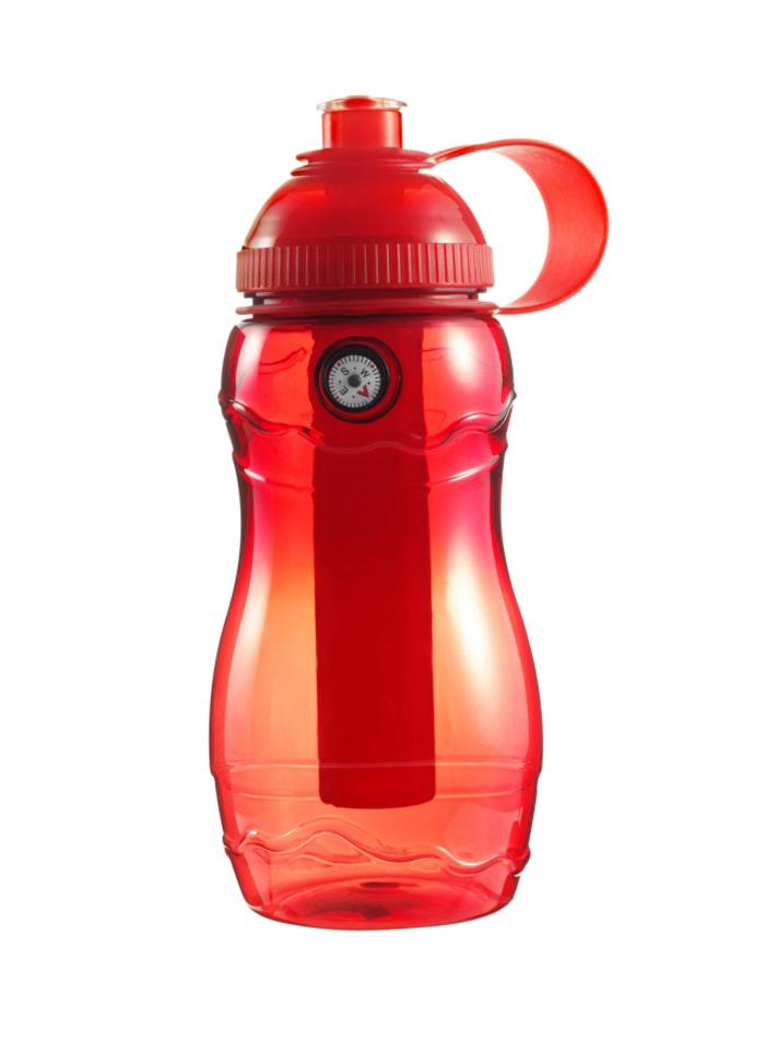 Plastová láhev s kompasem - Červená univerzal
