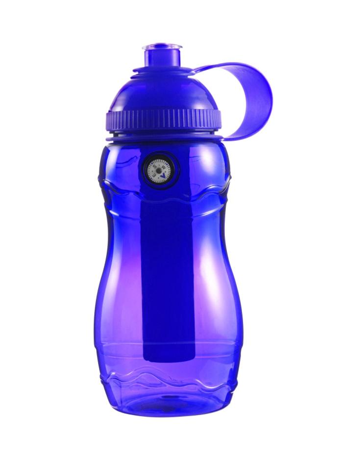 Plastová láhev s kompasem - Královská modrá univerzal