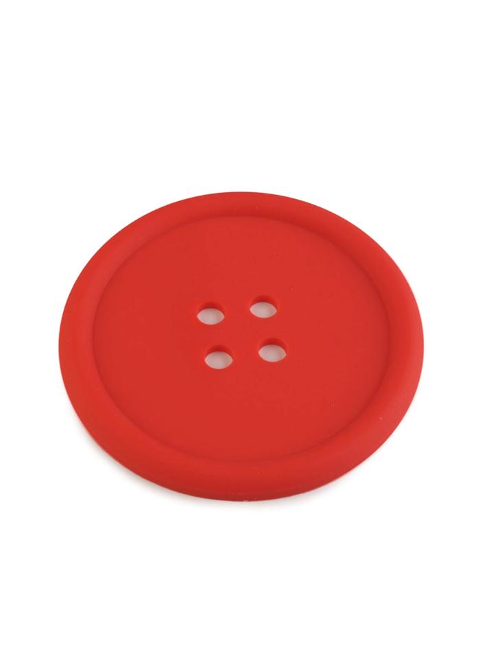 Silikonová podložka knoflík - Červená univerzal