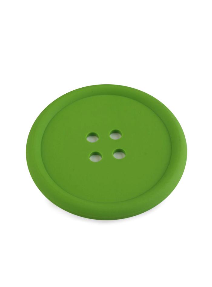 Silikonová podložka knoflík - Sytě zelená univerzal