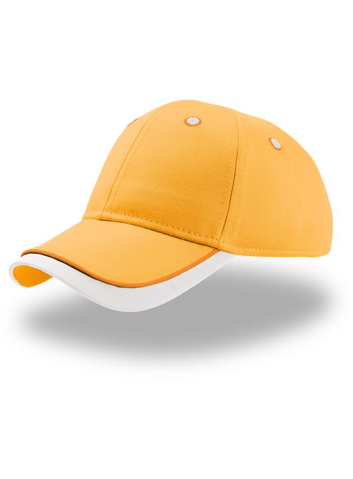 Dětská dvoubarevná kšiltovka - Oranžová a bílá univerzal