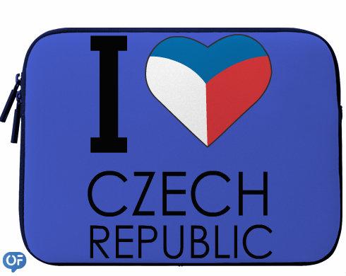 Levně I love Czech republic Neoprenový obal na notebook