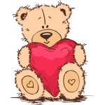 Teddy and heart