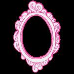 růžové zrcadlo