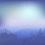 vzor zimní krajina