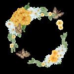 Květinový rámeček s motýly