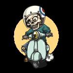 Kostlivec na motorce