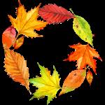 Rámeček z listí