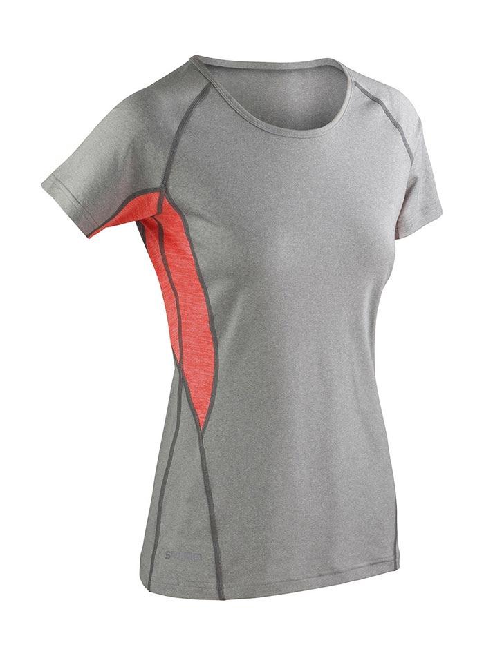 Dámské sportovní tričko Spiro - šedá/oranžová XXL