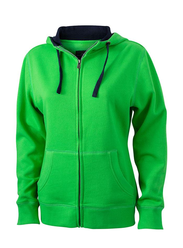 Dámská mikina Lifestyle - Sytě zelená S